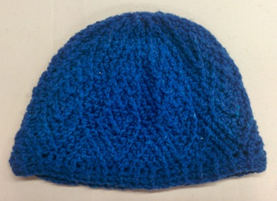 blue diamond crochet beanie_20140614_145828