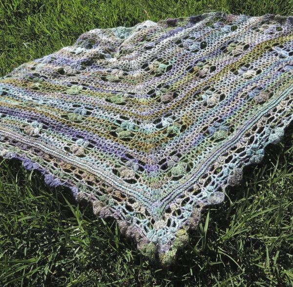 handspun crochet shawl 5191
