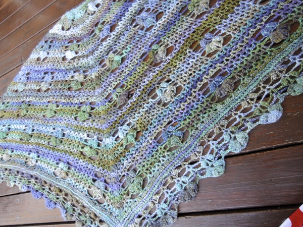 handspun crochet shawl 5199