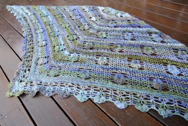 handspun crochet shawl 5204