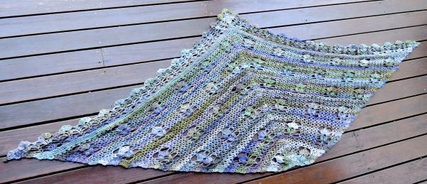 handspun crochet shawl 5210